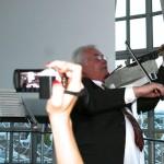 5. Sounddesignforum - Frankfurter Tor - Lounge im Turm - Jürgen Fleischhauer spielt die BeTon-Geige